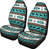 Aztec American Horse Car Seat Cover Front Saddle Blanket Comfort Covers for Women Decorative Pack of 2