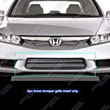APS Compatible with 2009-2011 Honda Civic Sedan Hybrid Lower Bumper Billet Grill N19-A86766H