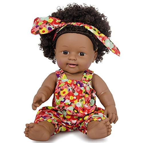 Nice2you Bambole afroamericane realistiche 12 Pollici Bambole per Bambini Giocattoli per Bambini