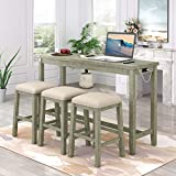 4-Piece Dining Room Table Set with...