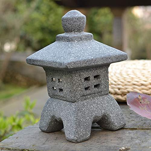 Faro Stile Giapponese Decorazioni Per Il Giardino Lanterna Pietra Di Candela Ornamento Per Cortile Balcone Casa Sala Da Tè Arredamento Zen,A-19cm