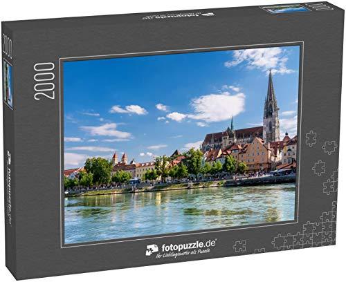 Puzzle 2000 Teile die bayerische Stadt Regensburg in der oberpfalz - Klassische Puzzle, 1000 / 200 / 2000 Teile, edle Motiv-Schachtel, Fotopuzzle-Kollektion 'Deutschland 2'