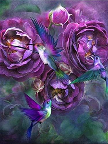 5d DIY diamante bordado peonía diamante pintura juego de cuentas mosaico flor aguja imagen hecha a mano diamante pintura A5 60x80 cm