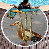 OneDay-Shop Fauler Vogel im Flugzeug Lustiger Hubschrauber Extra große große Reise im Freien Schwimmen Mikrofaserdecke Dünne Yogamatte Personalisiert