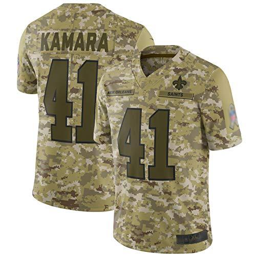 WOCTP Kamara # 41 Santos Rugby-Trikot für Herren, kurzärmelig, mit Kapuze, schnell trocknend, Armygreen-XXL