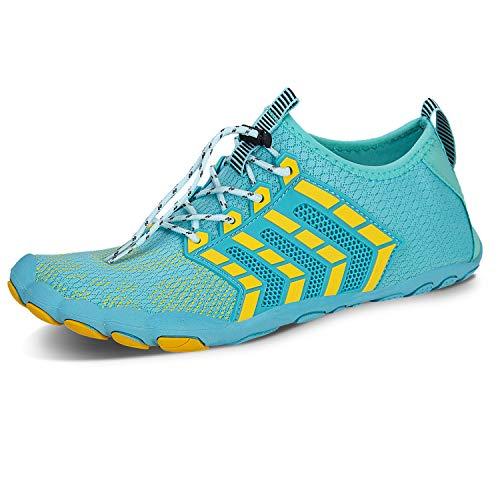 IceUnicorn Buty barefoot, buty pięciopalcowe, buty do chodzenia w terenie, buty na plażę, buty do pływania, męskie i damskie, - 15 Księżyc - 39 eu