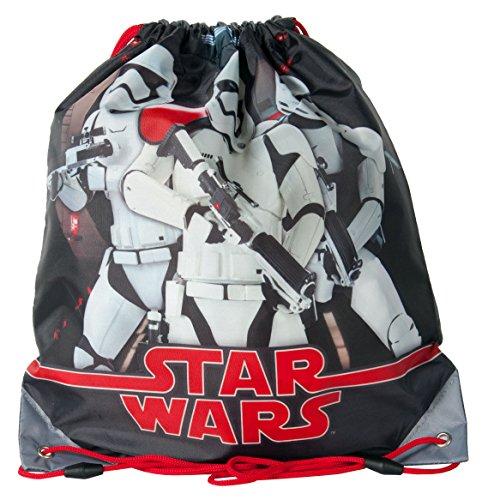 Ragusa-Trade Star Wars Krieg der Sterne Darth Vader Skywalker Yoda - Turnbeutel Sportbeutel Schuhbeutel, 38 x 34 cm, Startrooper schwarz/grau