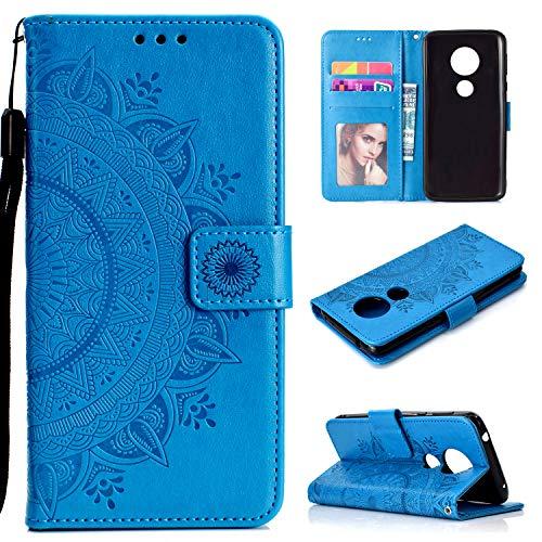 LODROC Coque Moto G6Play/Moto E5 Coque,Housse en Cuir Premium Flip Case Portefeuille Etui avec Stand Support et Carte Slot pour Motorola Moto G6 Play - LOHH0501301 Bleu