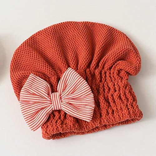 AOIWE Mkwlbfcz 1 unids para Mujeres Secado rápido Cabello Toalla Seca Toalla de Pelo súper Absorbente de Coral de Terciopelo Accesorios de baño portátil Tapas de Ducha (Color : A)