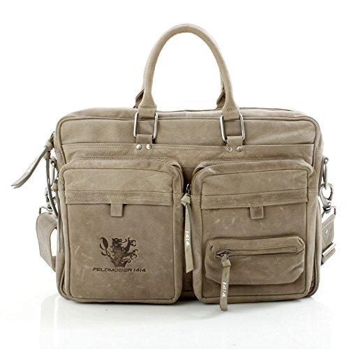 Feldmoser 1414 Laptop-Tasche Ledetasche Unitasche Notebook Aktentasche Businesstasche Schultertasche Umhängetasche Groß