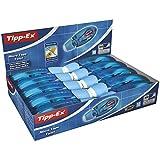 Tipp-Ex Micro Tape Twist Cinta Correctora 8 m x 5 mm - Azul, Caja de 10 Unidades, Con Cabezal Rotativo Para Proteger La Punta