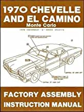 Best 1970 chevelle assembly manual Reviews