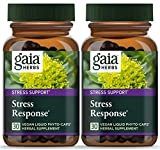 Gaia Herbs Stress Response, Vegan Liquid Capsules, 30 Count (Pack of 2) - Natural Stress Relief & Adrenal Fatigue Supplement, Calming Formula with Rhodiola, Ashwagandha, Holy Basil