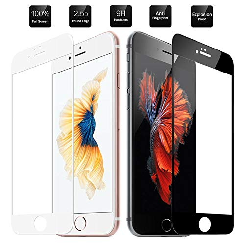 KDLLK Vidrio Templado 9H, para Apple iPhone 8 7 6 Plus Full Screen Protector HD