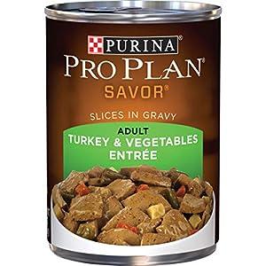 Purina Pro Plan Gravy Wet Dog Food, SAVOR Slices in Gravy Turkey & Vegetables Entree – (12) 13 oz. Cans