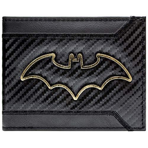 DC Batman Gold skizzieren Abzeichen Schwarz Portemonnaie Geldbörse