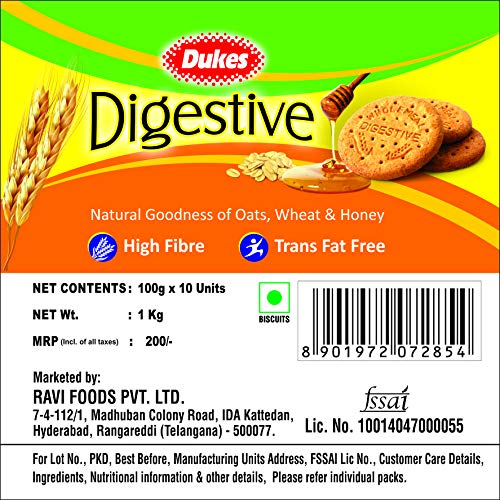 Dukes Digestive, 10 x 100g