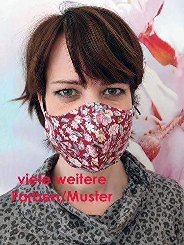 doppellagige Gesichtsmaske Filter möglich Maske kochbar 15 Farben/Muster Polka Dots Blumen Atemmaske Mundmaske Nasenmaske