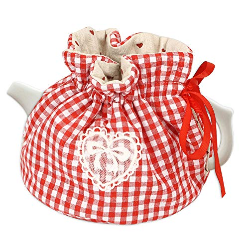 Creative Printed Tea Cosy, Stylish Kitchen Tea Pot Dustproof Cover, Tea Cosy Warmer Insulation, Kettle Cover with Insulation Keep Warm for Your Porcelain Teapot