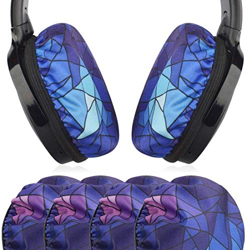 Geekria 2Pairs Elásticas Auriculares Tapas, Reemplazo Lavable Fundas de Almohadillas, Fits 3.14-4.33 Inches Over-Ear Headset Ear Cushions