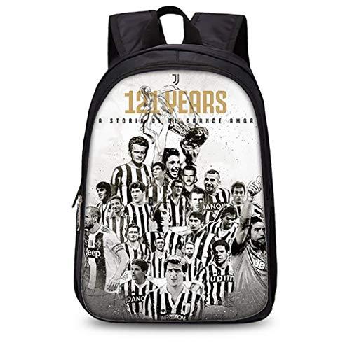 LITI schoolrugzak voor jongens en meisjes waterdicht Juventus casual daypack rugzak geschikt voor 15,6 inch notebook 18,5 * 11,02 * 5 inch