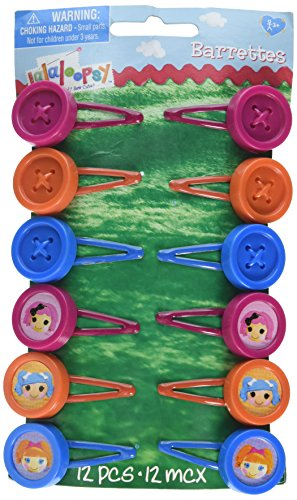 """amscan Adorable Lalaloopsy Hair Clip Birthday Party Hair Accessory Favours (12 Pack), Multi Color, 1 1/4"""" x 1 3/4""""."""