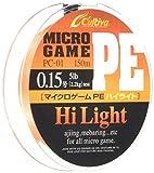 OWNER オーナー PEライン マイクロゲーム ハイライト PC-01 150m 0.15号 ホットオレンジ