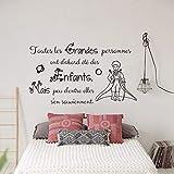 Stickers Muraux Vinyle Petit Prince Citation Toutes les grandes personnes ont d'abord été des enfants. Mais peu d'entre elles s'en souviennent Autocollant Autocollants Décoratifs Chambre d'enfant FR4