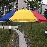 Hcyai Parasol extérieur Parasol Pare-Soleil Jardin Pare-Soleil pour l'extérieur, Le Jardin et la terrasse Bleu irisé, 1,5 *...