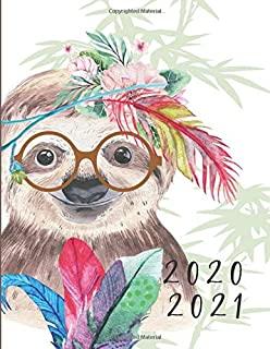 2020-2021 2 Year Planner Sloth Watercolor Monthly Calendar Goals Agenda Schedule Organizer: 24 Months Calendar; Appointment Diary Journal With Address ... Notes, Julian Dates & Inspirational Quotes