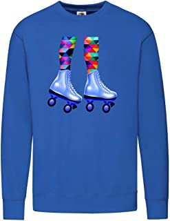 Druckerlebnis24 Sudadera – Roller Skating Piernas Girl – Sudadera unisex para niños – Niño y niña