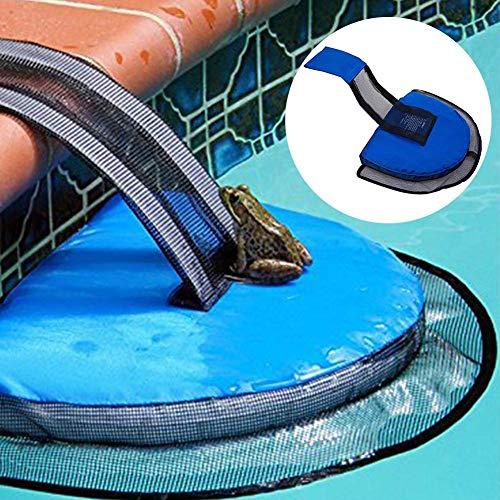 Reeseiy Critter Pool Fluchtnetz Skamper Float Ramp Für Kleine Schwimmbecken Chic Tiere Frösche Kröten Salamander Entenschildkröte Fluchtgerät Blau Free Size (Color : Blau, Size : Size)