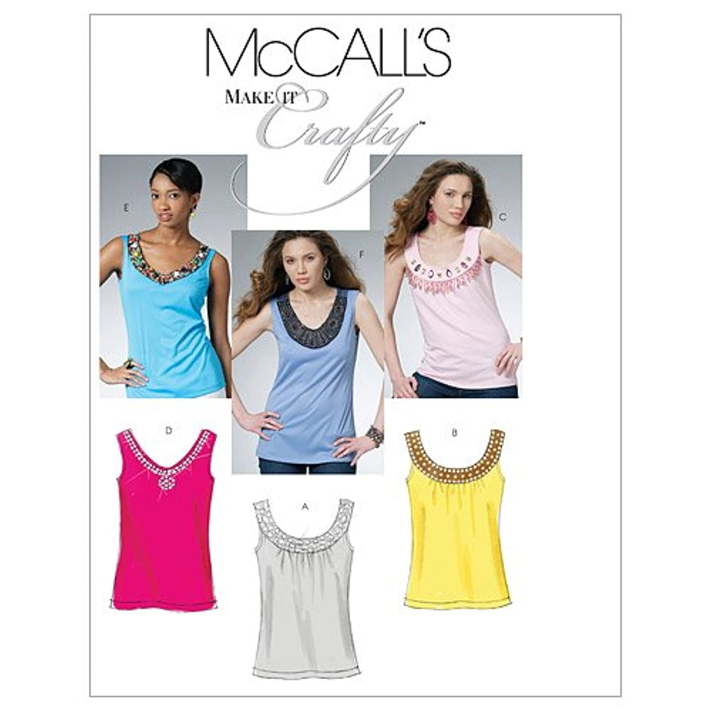 McCall's Patterns M6077 Misses'/Miss Petite Tops, Size EE (14-16-18-20)