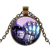 Halskette Ghost Pendant Video Game Halskette Glashütte Necklace Art Geschenk