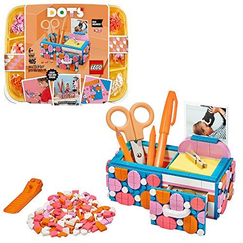 LEGO 41907 Dots Organizador de Escritorio Kit de Manualidades para Niños y Niñas, Juego Creativo Decoración de Habitación
