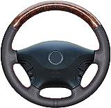 Unknow Ajuste de laCubierta del Volante del Coche, para Mercedes Benz Viano W639 2003-2010 Vito 2010-2015DIY Hilo Interior Cosido a Mano-Amarillo