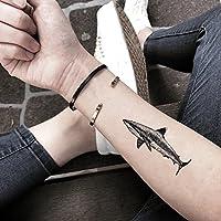 鮫 の 一時的な入れ墨 (2 個) - www.ohmytat.com