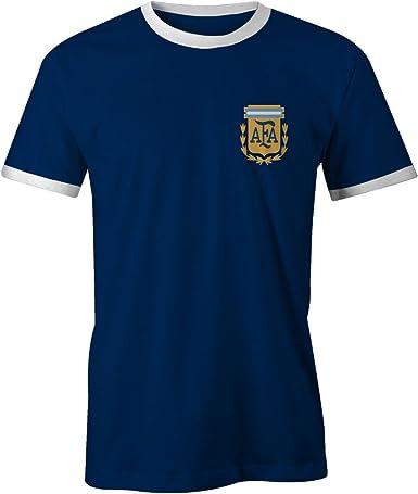 Footees Camiseta de fútbol retro de Argentina para hombre, no ...