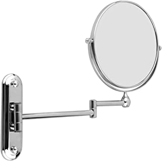 """LUVODI Bathroom Makeup Mirror Wall Mounted Cosmetic Mirror with 10X Magnification Vanity Mirrors 8 Inch Double Sided 360 Degree Swivel Mirror 12"""" Extendable Shaving Mirror"""
