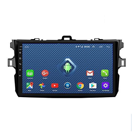 DGDD Android 10.0 Navegación GPS Coche Estéreo Radio 9 Pulgadas 2.5D HD Pantalla Táctil Ser Aplicable para Toyota Corolla (2007-2013) Apoyo Manos Libres WiFi 4G FM Am SWC DSP Mirror Link 2G+32G
