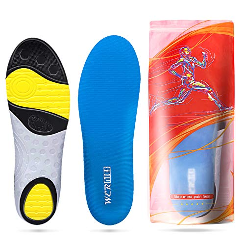 Sky Blue Size 10 Running Shoe Insoles-Arch Replacement Sports Shoe Inserts-Comfort and Support Fits Work Boots, Casual Shoes & Sneakers Sky Blue
