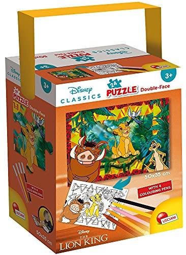 Lisciani Giochi - Disney - Re Leone Puzzle in a Tub Mini, 24 Pezzi, Colore Multicolore, 50X35 cm, 86146
