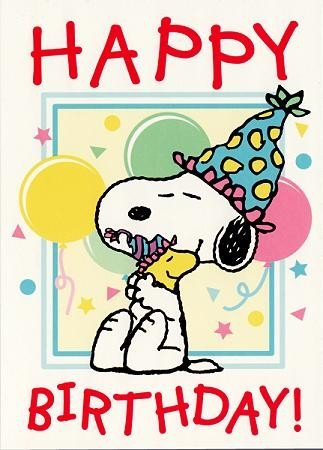 Snoopy POSTkarte Geburtstag Big Hug