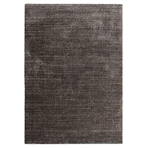 havatex Moderner Teppich Velours Melange - 4 Zeitlose Natur-Töne zur Auswahl | kuschelig weicher Flauschteppich für Wohnzimmer Schlafzimmer Büro …, Farbe:Dunkelbraun, Größe:160 x 230 cm
