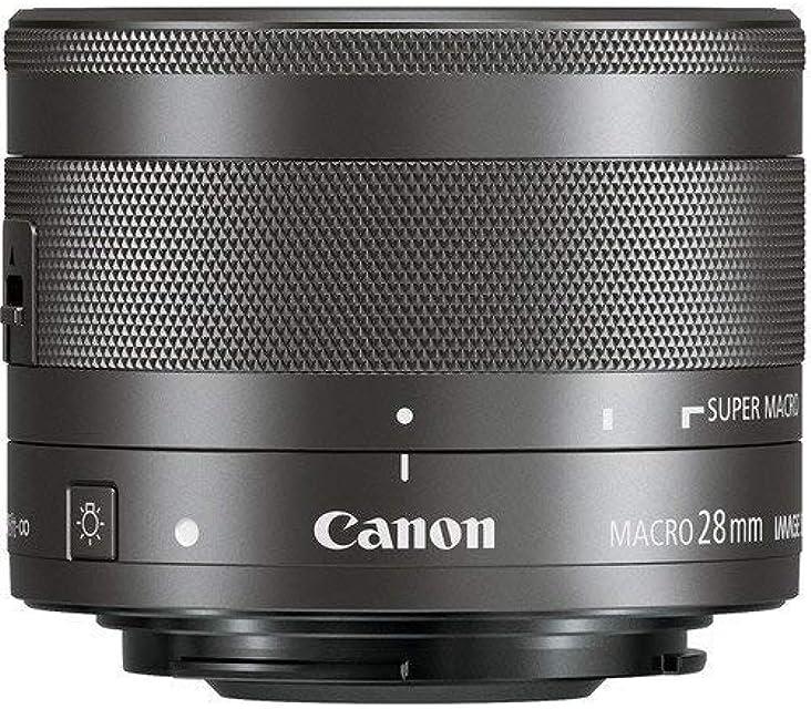 Canon EF-M 28mm f/3.5 Macro IS STM - Objetivo para cámara Canon Negro