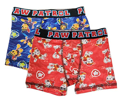 Action Underwear 2 Pack Boys Boxer Briefs (Paw Patrol Red, S)
