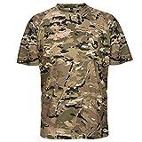Wisdom Leaves Men's Short Sleeve Camo T-Shirt,Lightweight Performance Tee for Hunting Hiking Fishing