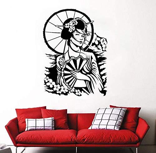 Sticker Mural Vinyle Autocollant Mural Vinyle Sticker Sakura Fleur De Cerisier Style Art Mural Home Decor Intérieur42X58Cm