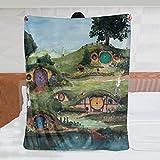 The Shire - Manta de felpa suave y cálida para niños o adultos para cuna, cama, sofá, silla, sala de estar, todas las estaciones, viajes al aire libre, 50 x 40 pulgadas