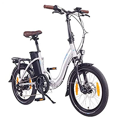 "NCM Paris E-Bike, E-Faltrad, 250W, 36V 15Ah • 540Wh Akku, 20"" Zoll (15Ah Silber)"
